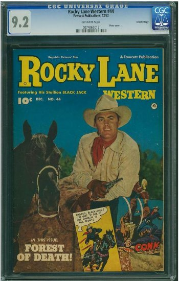 Rocky Lane Western #44 (CGC 9.2) HIGHEST GRADED