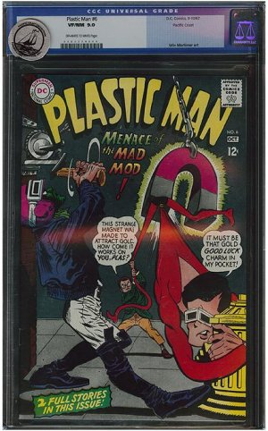 Plastic Man #6 (CGC 9.0) Pacific Coast Pedigree