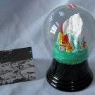 Vintage Austrian Glass Perzy Snowglobe Alpine Church Steeple