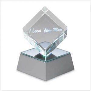 Love U Mom Cube with Led Base