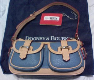Dooney and Bourke Small Blue Banana bag - like new!