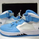 Men jordan Fusions Baby blue white and black