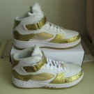 Men jordan Fusions Gold and White