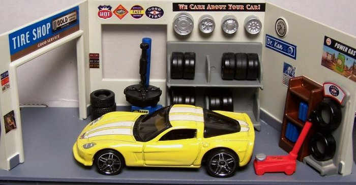 HOT WHEELS C6 CORVETTE YELLOW