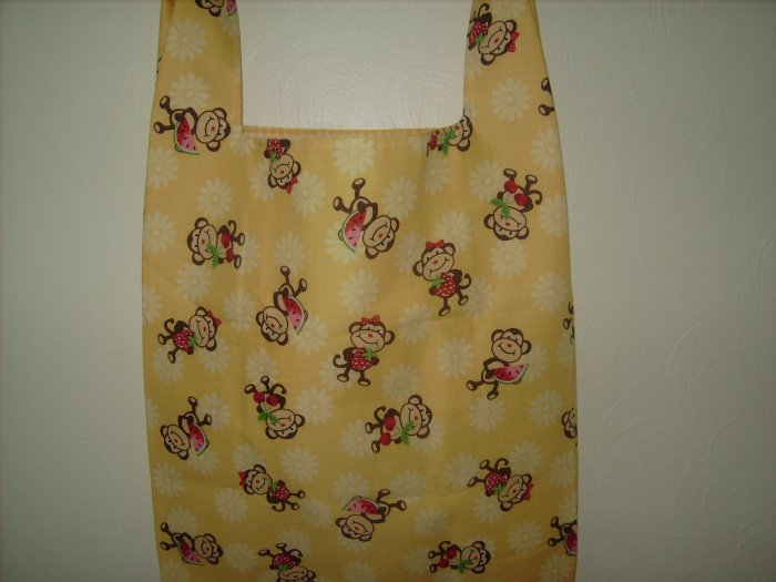 Reusable Cloth Grocery Shopping Bag Cheeky Monkeys