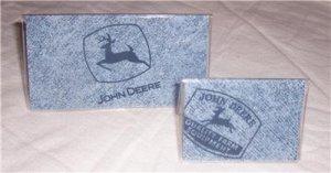 John Deere Denim Checkbook Cover Set