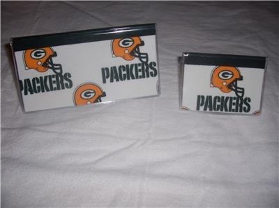Green Bay Packers Checkbook Cover Set