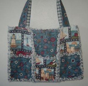 Freedom Ahoy Rag Quilt Tote Bag