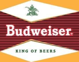 Budweiser Beer Bullseye Logo Tin Sign #1247