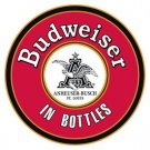 Budweiser Beer Round Tin Sign #1157