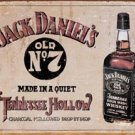 Jack Daniel's Tennessee Hollow Whiskey Tin Sign #1419