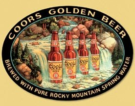 Coors Beer Waterfall Tin Sign #1311