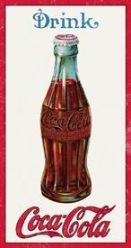 Coca-Cola 1915 Bottle Design Tin Sign #1210