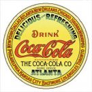 Coca-Cola Keg Label Round Tin Sign #1070