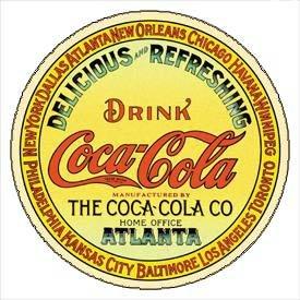 Coca-Cola Keg Label Round Tin Sign #1070