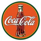 Coca-Cola Bottle Logo Round Tin Sign #1069