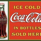 Coca-Cola Bottles Sold Here Tin Sign #1047