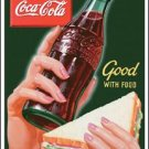 Coca-Cola Good With Food Tin Sign #1226