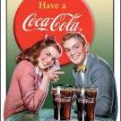 Coca-Cola Glasses and Tray Tin Sign #1304