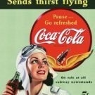 Coca-Cola Female Pilot Tin Sign #1045