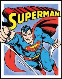 Superman Retro Tin Sign #1402