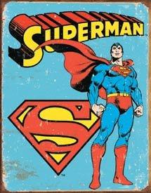 Superman Retro Tin Sign #1335