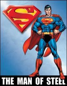 Superman Man Of Steel Tin Sign #1337