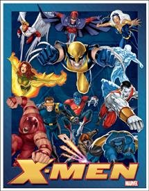 Marvel X Men Collage Tin Sign #1264