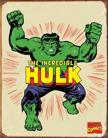 Marvel Incredible Hulk Tin Sign #1438
