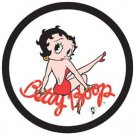 Betty Boop Red Dress Round Tin Sign #1010