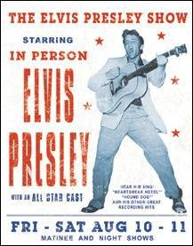 Elvis Presley Show Poster Tin Sign #1197