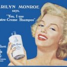 Marilyn Monroe Lustre Cream Tin Sign #114