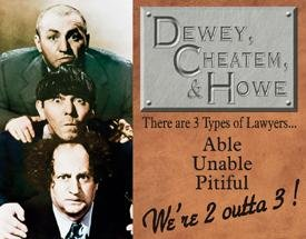 Three Stooges Lawyers Tin Sign #1291