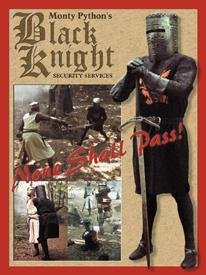 Monty Python Black Knight Tin Sign #870