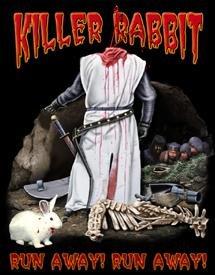 Monty Python Killer Rabbit Tin Sign #1209