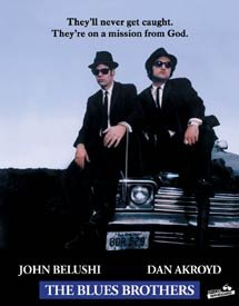 Blues Brothers With Car Tin Sign #1376