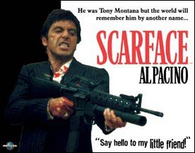 Al Pacino Scarface Little Friend Tin Sign #1339