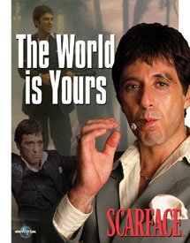 Al Pacino Scarface World Is Yours Tin Sign #1418