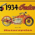 Indian 1934 Motorcycle Tin Sign #37