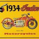 Indian 1934 Motorcycle Tin Sign #37