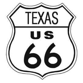 Route 66 Texas Tin Sign #176