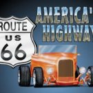 Route 66 Roadster Hot Rod Tin Sign #729