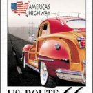 Route 66 Woody Car Tin Sign #917