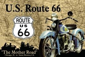 Route 66 Mother Road Tin Sign #678