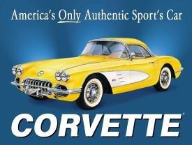 1958 Chevy Corvette Tin Sign #720