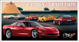 C6 Chevy Corvette Tin Sign #1245