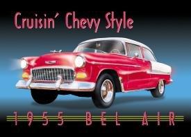 General Motors Chevy Bel Air Car Tin Sign #728