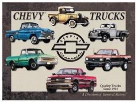 General Motors Chevy Truck Tin Sign #841