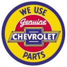 General Motors Chevy Parts Round Tin Sign #1072