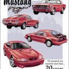 Ford Mustang Tribute Car Tin Sign #768
